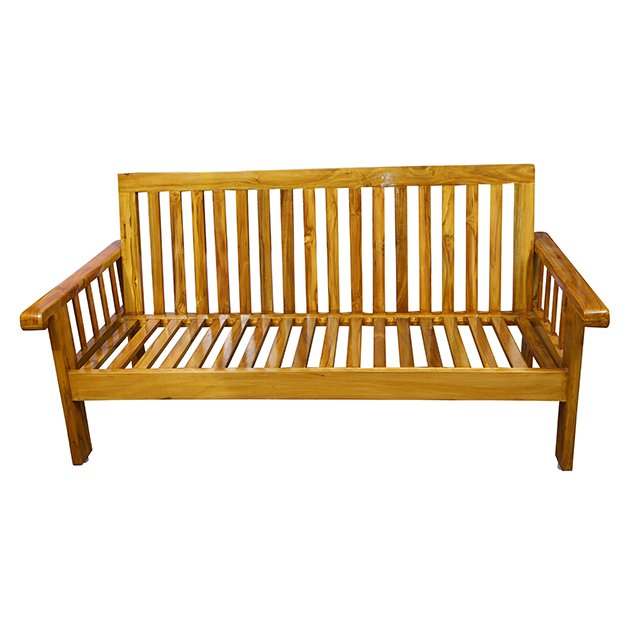 Wooden sofa three seater with Cushion